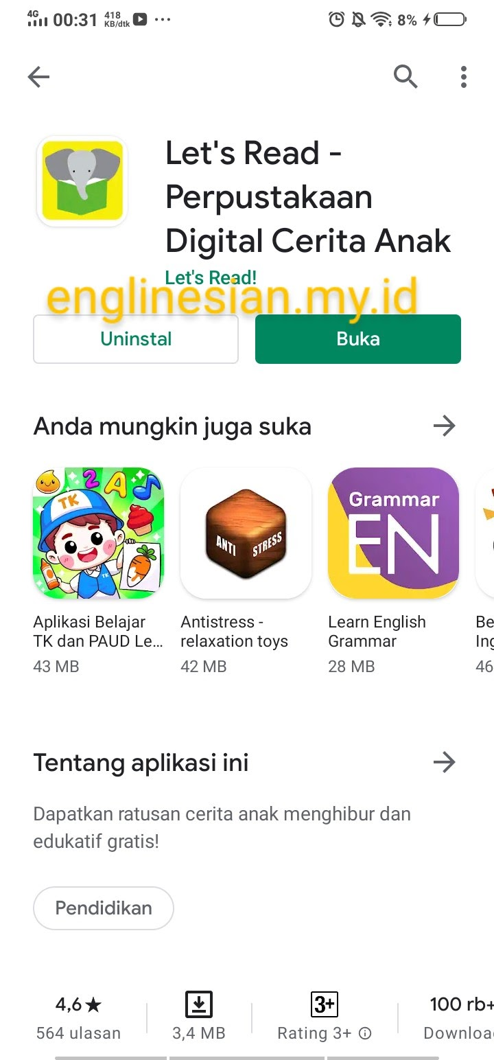 Let's Read di Play Store