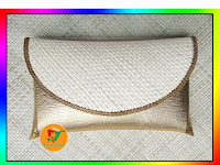 Clutch Pandan Polos Kombinasi Lorena Gold