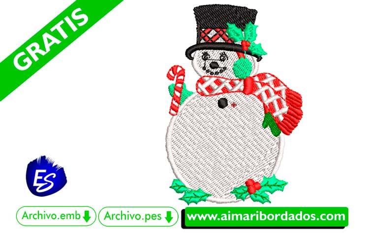 Muñeco de Nieve para bordar a máquina DESCARGA GRATIS