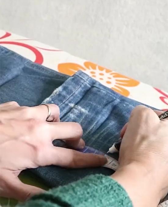 barra da calça