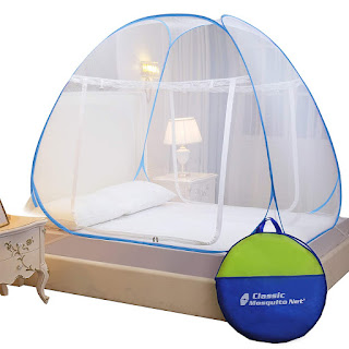 Classic Mosquito Net Double Bed King Size Polyester Foldable.