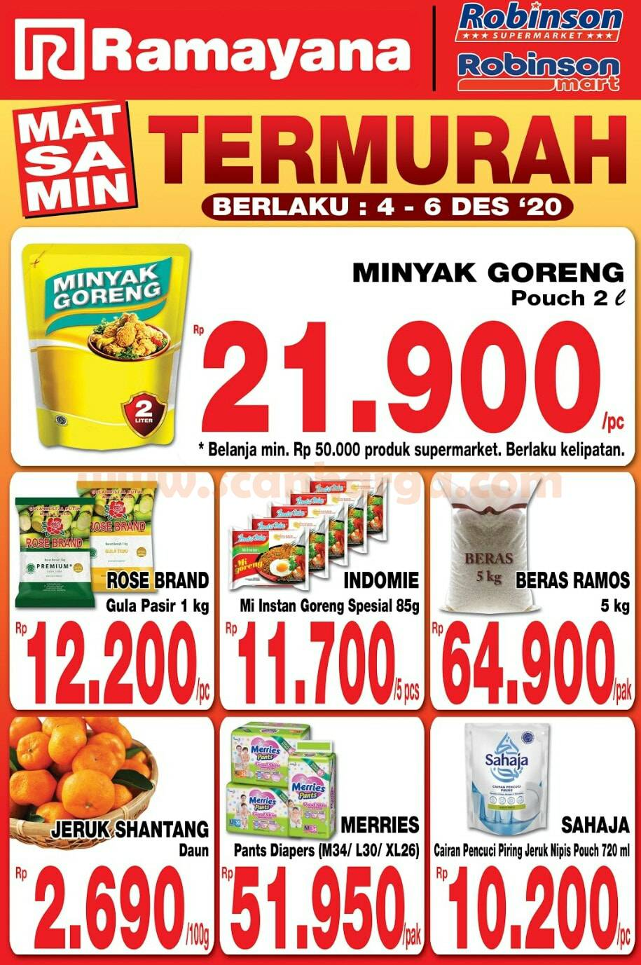 Katalog Promo Robinson Mart Supermarket Terbaru 4 - 6 Desember 2020