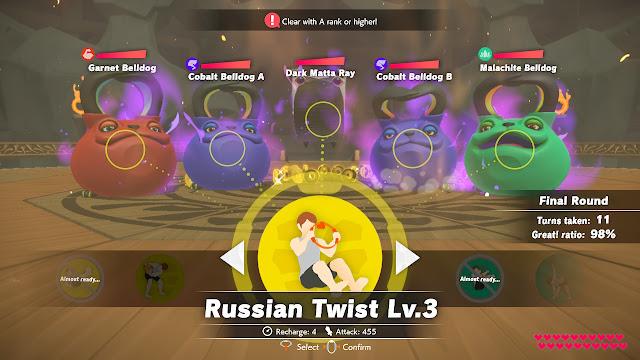 Ring Fit Adventure Battle Gym Hades Garnet Cobalt Malachite Belldog Russian Twist