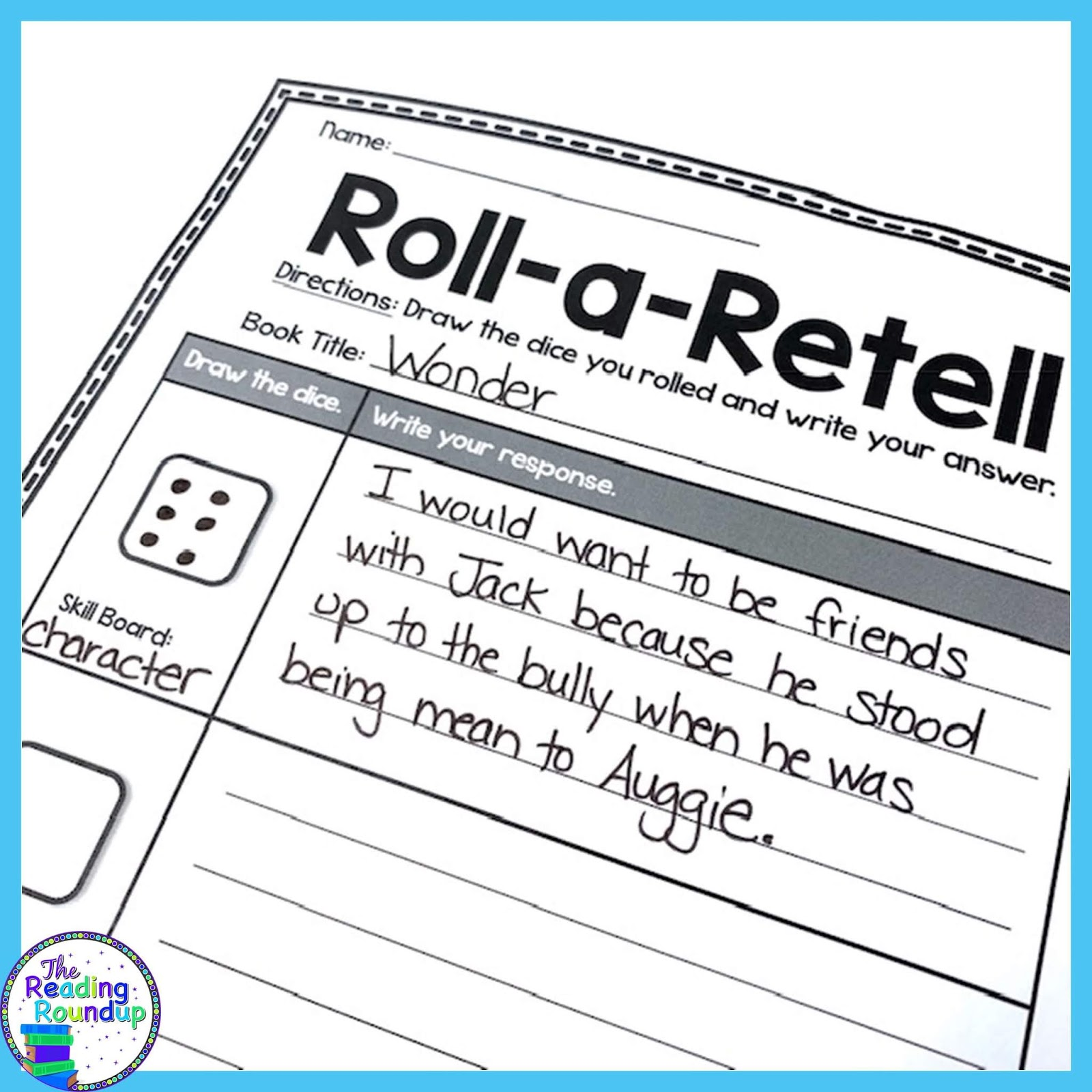 The Reading Roundup A Simple Activity For Story Elements