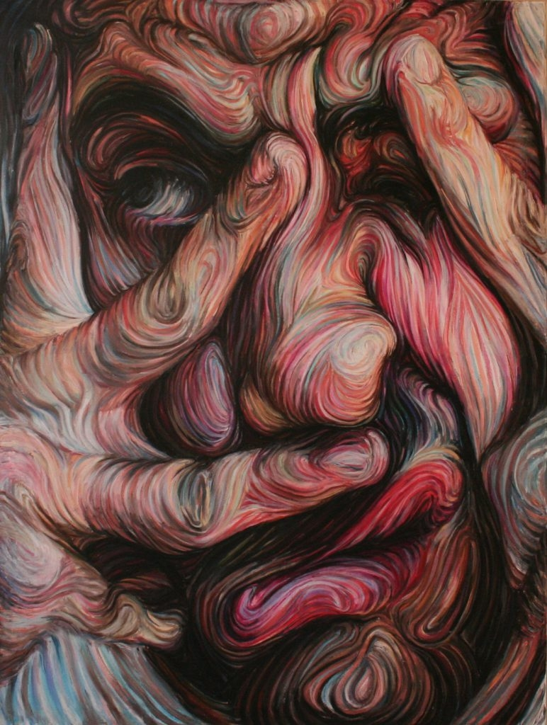 11-Self-Portrait-Nikos-Gyftakis-Swirls-of-Colors-and-Shapes-used-in-Portrait-Paintings-www-designstack-co