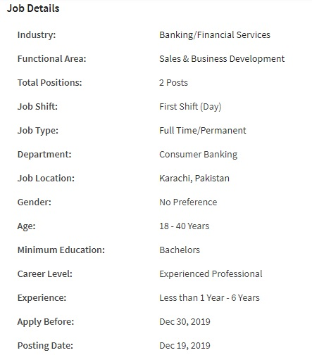 BankIslami Bank Pakistan Limited Jobs 2019 for Relationship Manager ( Employee Banking Services)