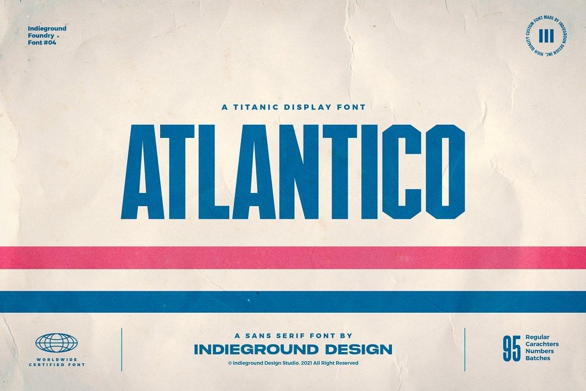 Atlantico Font -  Free Titanic Display Typeface