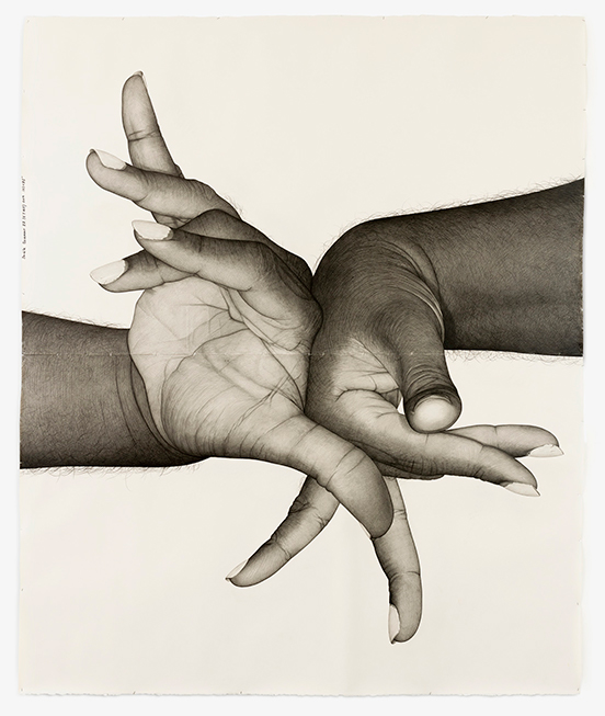 Karl Haendel Double Dominant 22 (EJ Hill), 2019 Pencil on paper 261.62 x 215.9 cm