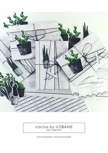 Naklejki w kształcie kaktusów.