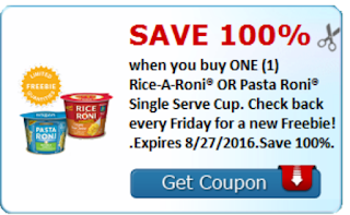 Image Freebie Friday coupon 8/27/2016 Free Rice a Roni