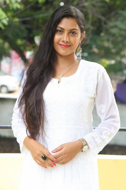 Priyanka Naidu Stills At Anaganaga Oka Durga Movie Release Date Press Meet
