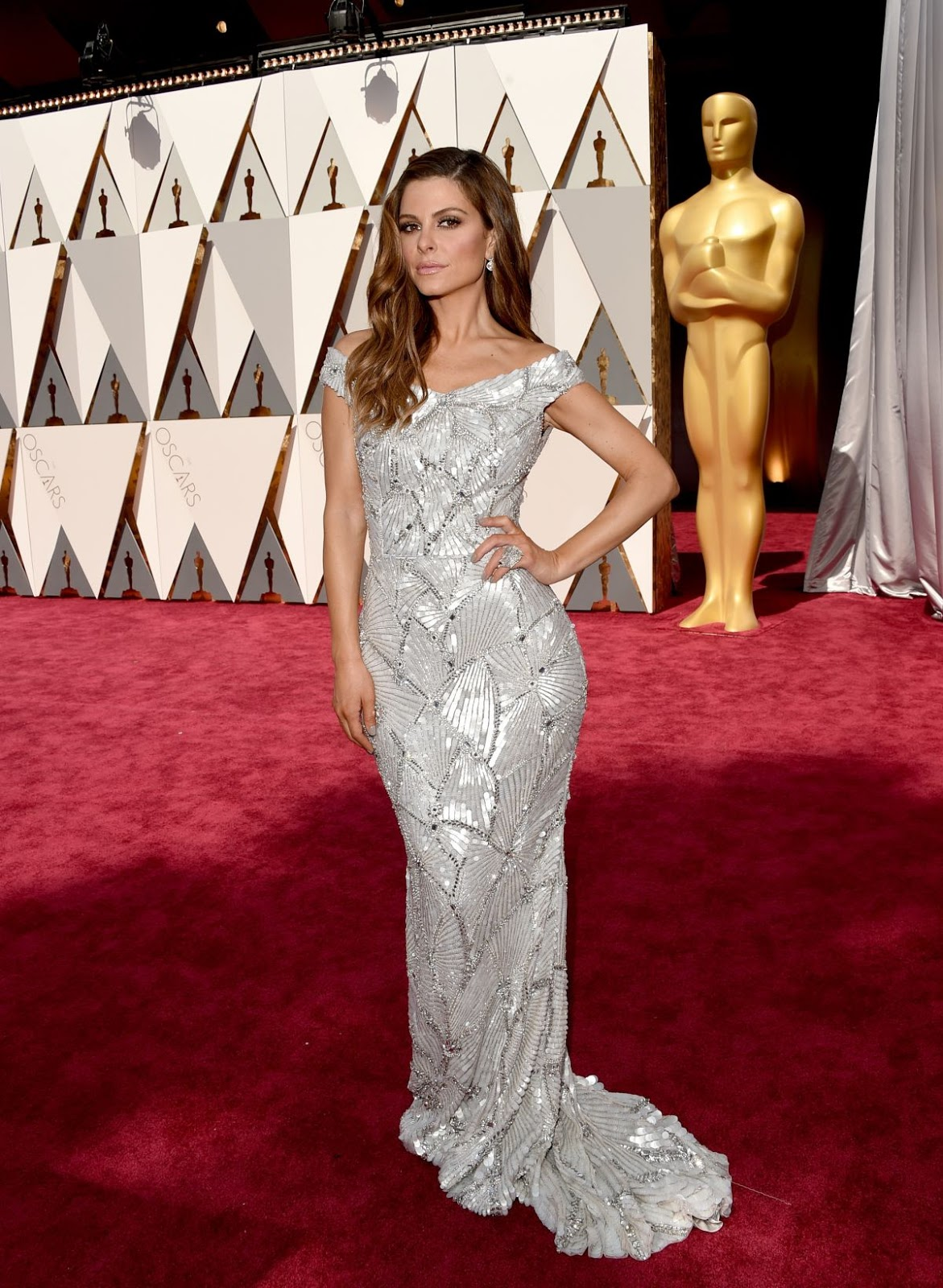 Entourage actress Maria Menounos at 88th Annual Academy Awards 2016