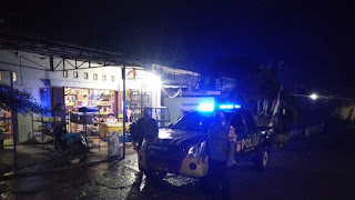 Patroli Blue Light Personel Polsek Curio Ciptakan Kondusifitas Di Wilayahnya