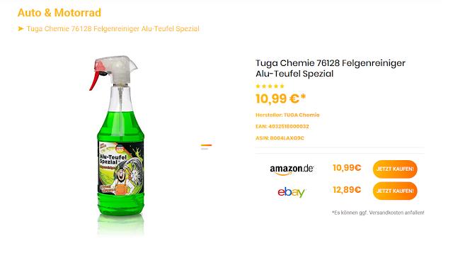 Tuga Chemie 76128 Felgenreiniger Alu-Teufel Spezial