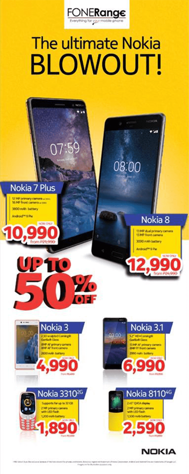 "Sale Alert: FONERange announces ""The Ultimate Nokia Blowout!"""