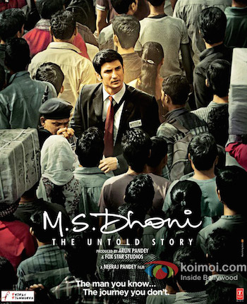 MS. Dhoni The Untold Story (2016) Hindi DVDScr x264 800MB