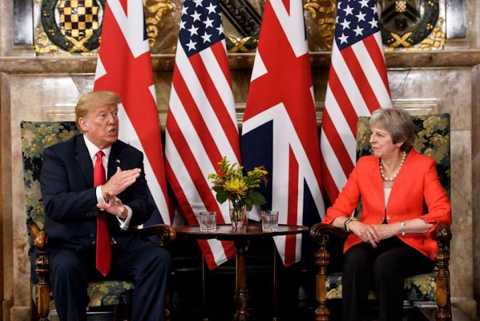 Theresa May: Donald Trump told me to sue the EU