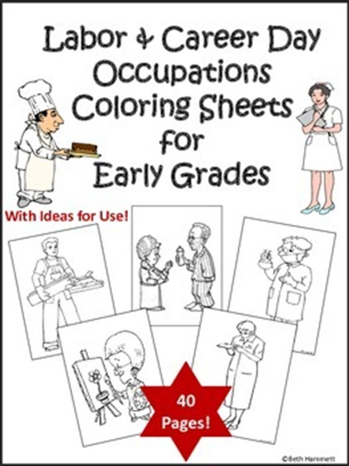 Education Helper Choosing A Career For Administrative Day Career Day Coloring Pages