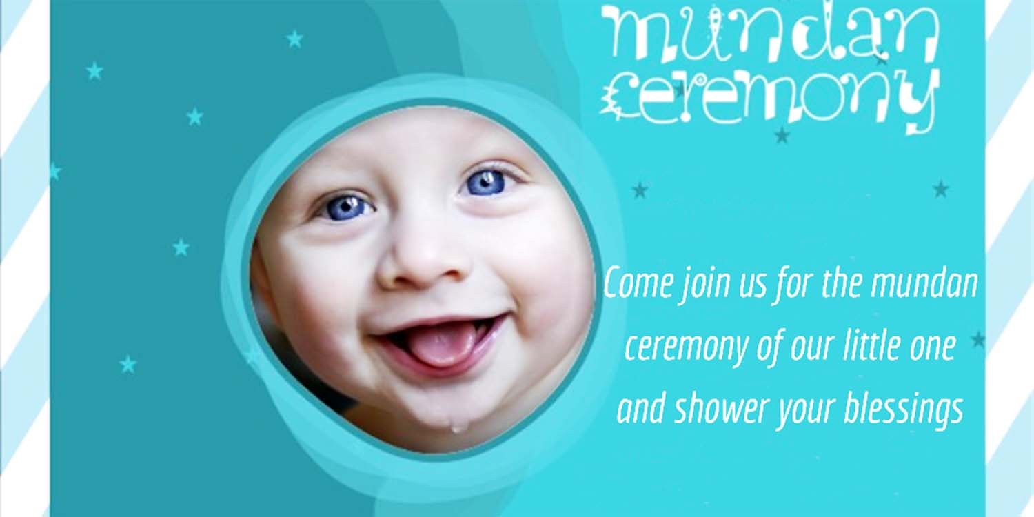mundan ceremony invitation message