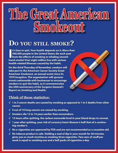 Great American Smokeout Wishes Sweet Images