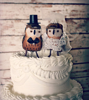 best owl vintage theme wedding cake topper