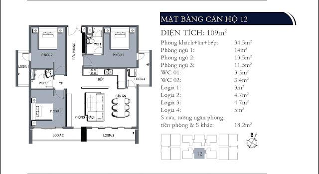 Căn hộ 12 chung cư One18