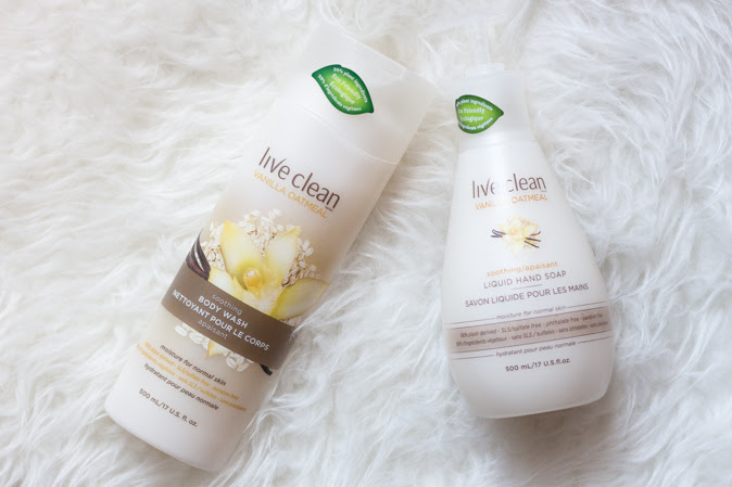 Live Clean Vanilla Oatmeal Soothing Body Wash & liquid hand soap review