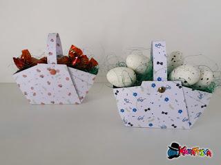 cestini di carta con dolcetti