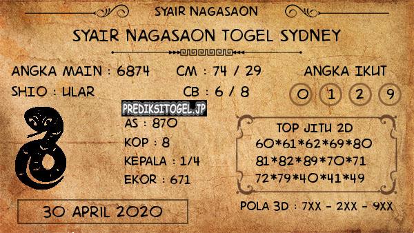 Prediksi Sydney 30 April 2020 - Nagasaon Sydney
