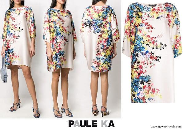 Princess Stephanie wore Paule Ka floral shift dress