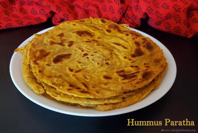 images of Hummus Paratha / Hummus Lacha Paratha / Hummus Lachha Paratha