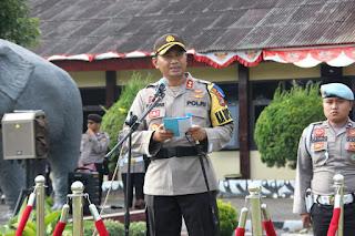 Kapolres Doni Wahyudi Pimpin Apel Gelar Pasukan Ops Ketupat Krakatau 2019