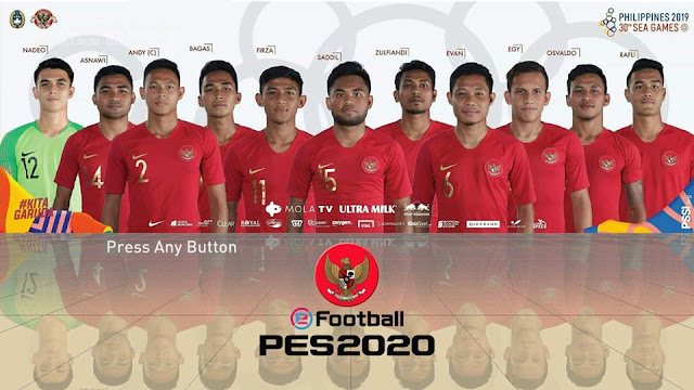 PES 2017 Startscreen Timnas Sea Games 2019 by RND Creative PES