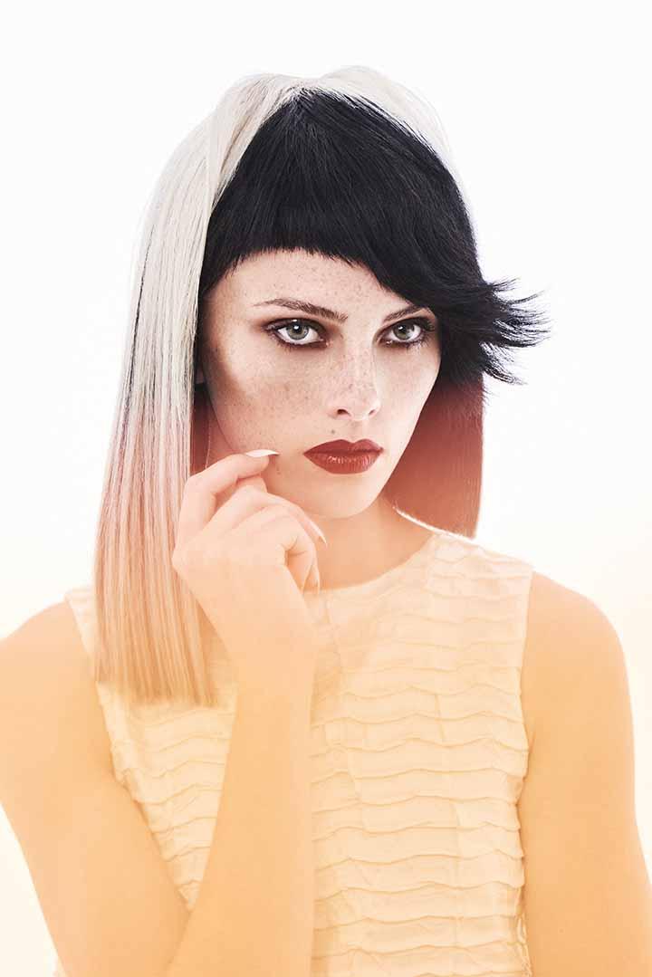 color de pelo rubio y negro 2020