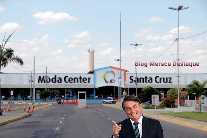 Pessoas criticam uso do Moda Center Santa Cruz durante vinda de Bolsonaro a Santa Cruz do Capibaribe