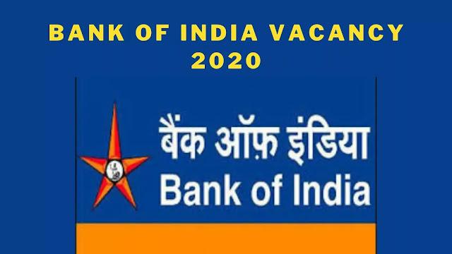 Bank of India Vacancy 2020