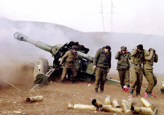 Azerbaiyán morteros Artsakh