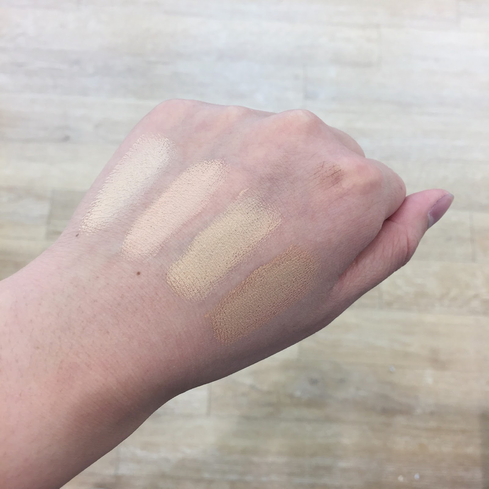 honest beauty cream foundation swatches