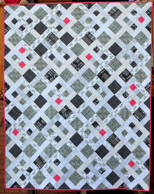 Picket Fence Black and White Quilt Free Tutorial