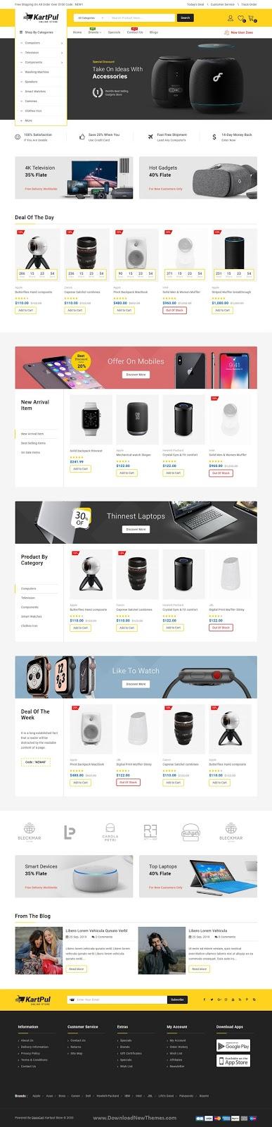 New Multipurpose OpenCart Theme