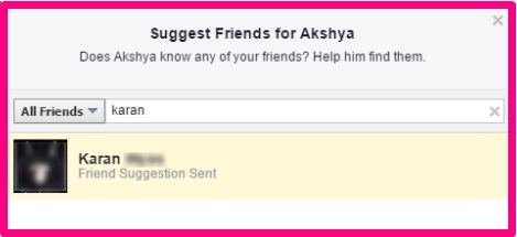 how to suggest friends on facebook 2017
