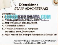 Bursa Kerja Surabaya Terbaru di Mansion Royale Juli 2019