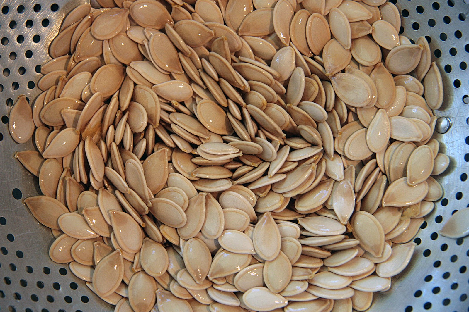 Pumpkin Seeds before roasting | Local Food Rocks