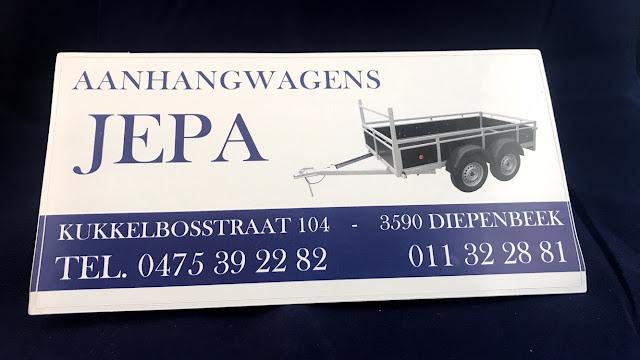 Losse kleine stickers voor Jepa Aanhangwagens