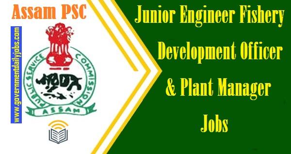 APSC JE Jobs 2021