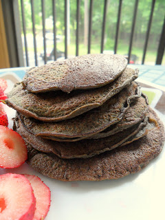 Chocolate protein pancakes on Hungry Gator Gal
