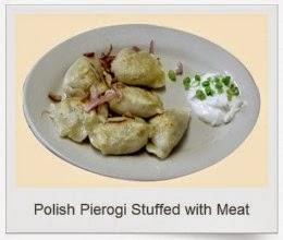 polish pierogi stuffed with meat