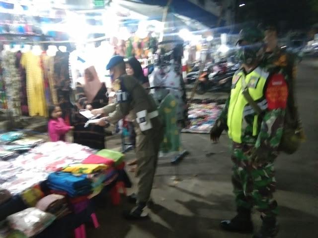 Pasar Murakata Barabai Sasaran Operasi Yustisi Malam Hari