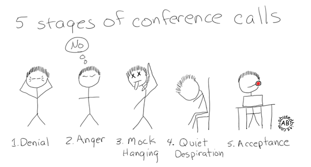 5 Stages of Conference Calls
