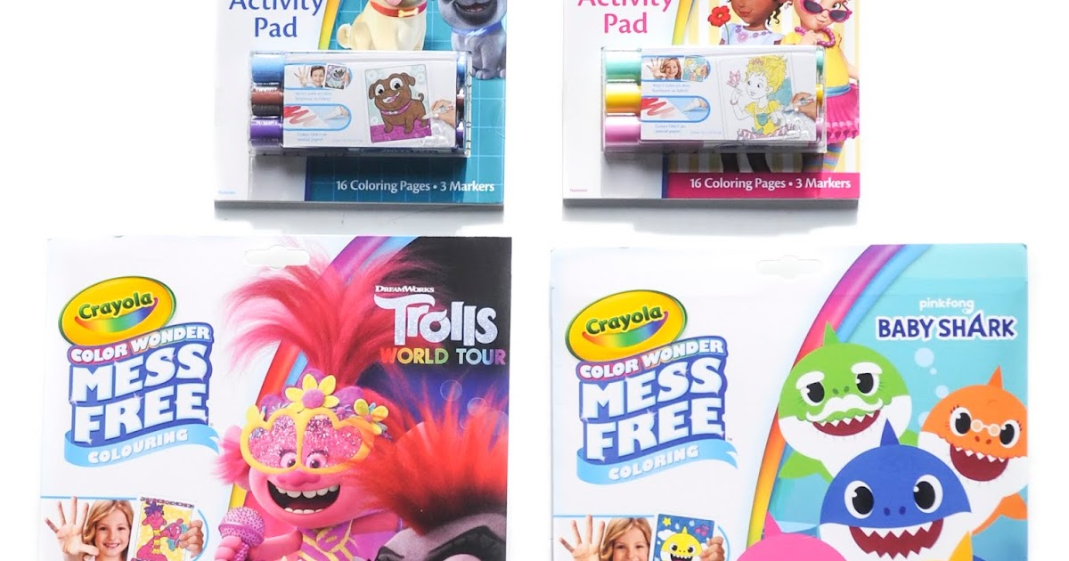 Crayola Color Wonder: Trolls World Tour, Baby Shark, Puppy Dog Pals, Fancy  Nancy Jenny's Crayon Collection